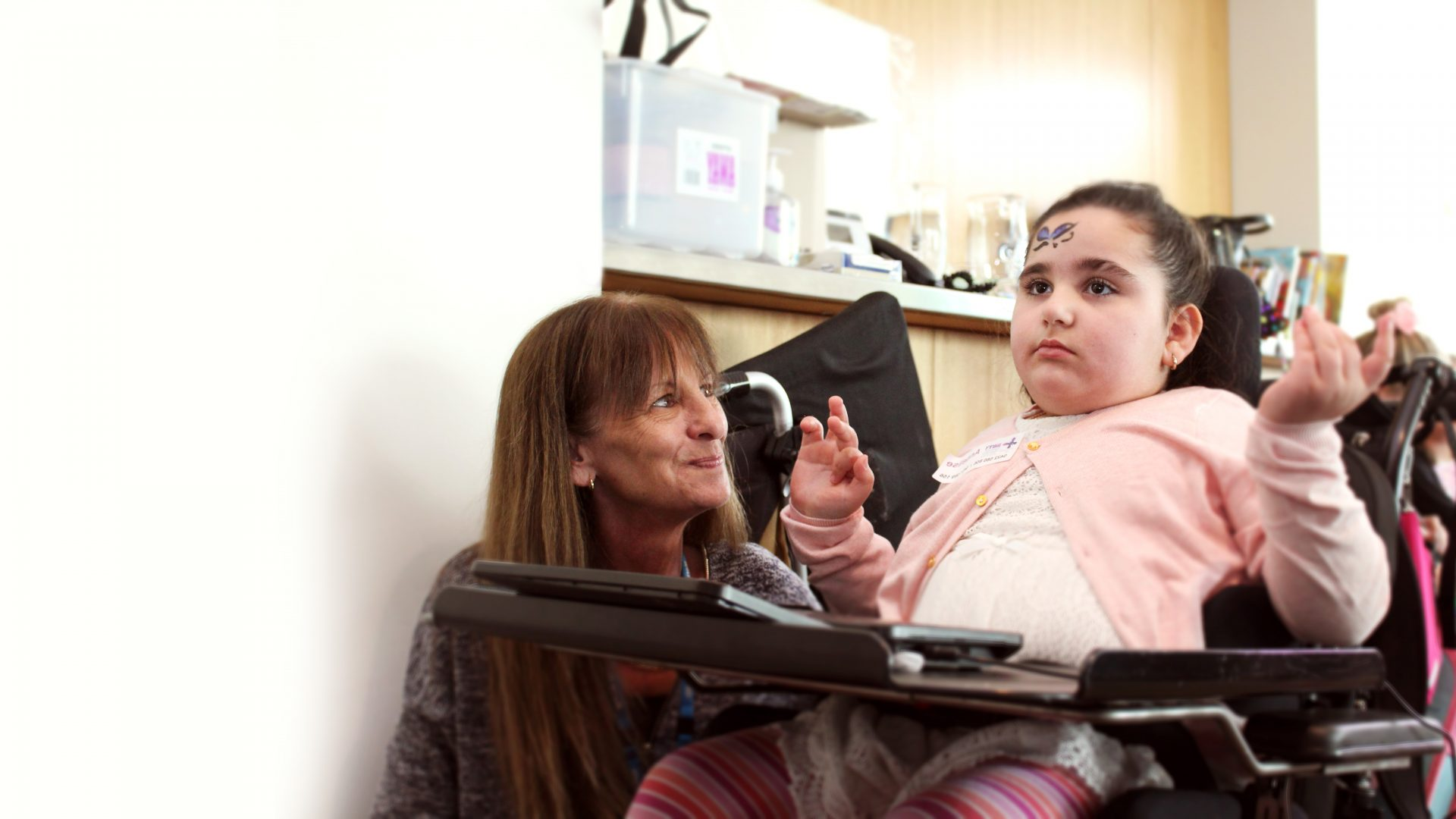 carer with disabled child